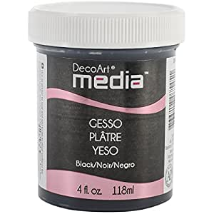 DecoArt Media Paint Finishes, Black Gesso