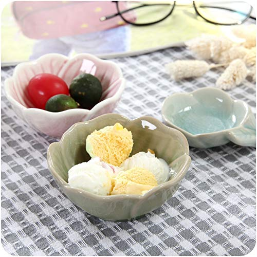 Tyro Kitchen Ceramic Little Bowl Flavored Grape Leaves Multifunction Breakfast Snack Little Dish Vinegar Sauce Dish Tableware Grape Leaf Dish