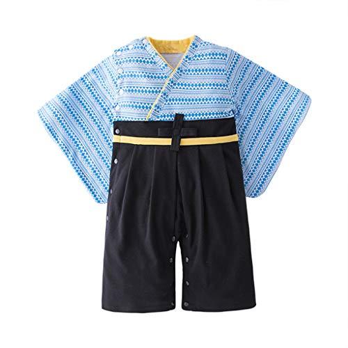 Streifen-kimono Top (Pwtchenty Sommerkleidung Jungen Kleinkind Bekleidung Baby Jumpsuit Strampler Streifen Kimono Overall Tops Weste Shorts Outfits Kleidung Set Mädchen Kleidung Shirt Kinderbekleidung 2 Stücke)