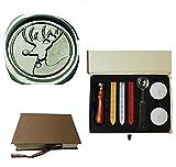 MDLG Vintage Weihnachten Deer Custom Bild Logo Hochzeit Einladung Wax Seal Versiegelung Stempel Set-Deko Box Kit