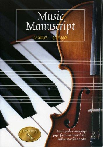 Music Manuskript Buch. 12 Notenlinien. 32 Seiten