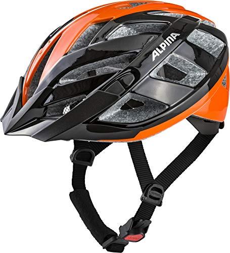 ALPINA Erwachsene Panoma 2.0 Fahrradhelm, Black-orange, 56-59 cm