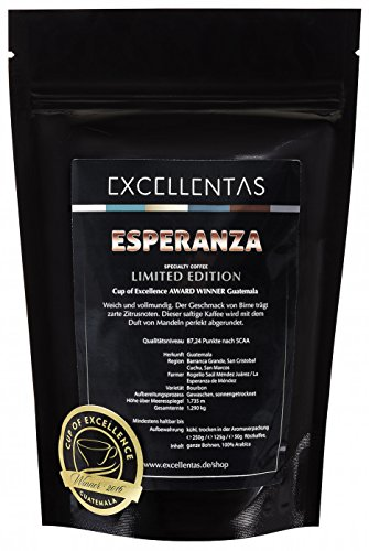 Röstmeister Kaffee ESPERANZA Guatemala, Cup of Excellence Gewinner