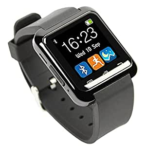 [Smartwatch Montre Connectées] EasySMX Android Smartwatch Bluetooth 4.0 Multi-Languages Smart Watch Bande Smart Bracelet avec Ecran Tactile Montre Intelligent Support Android Smartphones Including SAMSUNG, HTC, Sony(Noir)