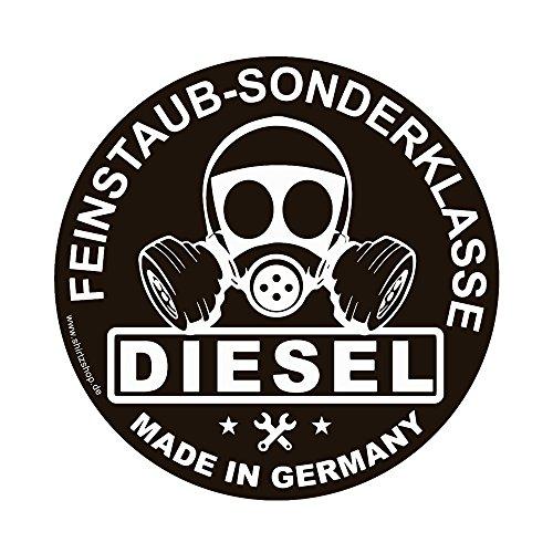 Feinstaub Sonderplakette DIESEL MADE IN GERMANY Umweltplakette Aufkleber Autoaufkleber Sticker Vinylaufkleber Decal