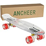 Ancheer Mini-Cruiser-Skateboard LED Leuchtrollen