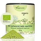Thé Matcha Bio Japonais De La Région D'Aichi | SUPERALIMENT Premium | 100g Ou 200g | Détox - Énergisant - Bien-Être | Boîte Spéciale Conservation Arômes | Qualité Vegavero | Végan
