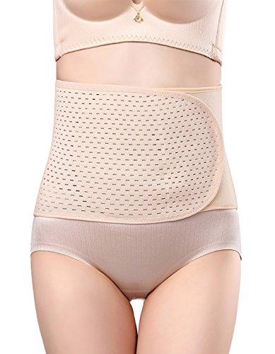 Aivtalk Faja de Abdomen Adelgazante para Mujer Faja de Cintura Reductora Moldeadora para Postparto Postnatal Shapewear Bodyshaper - Color de Piel