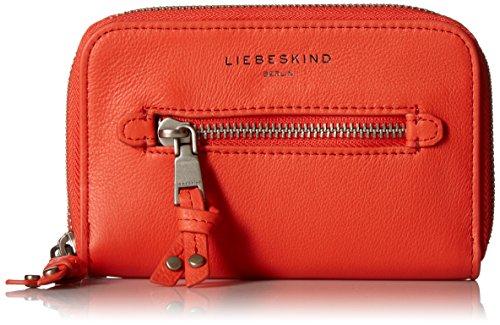Liebeskind Berlin Arianna Damen Geldbörse Leder Reißverschluss rund, Rot (Hibiskus), Einheitsgröße -