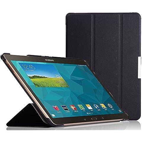 ELTD® Funda de piel de cuerpo entero para Samsung Galaxy Tab S 10.5 Tablet con Auto Sleep/Wake Function (Para Samsung Galaxy Tab S 10.5,