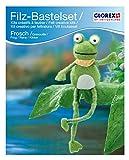 Glorex GmbH Filz 62902605 - Creativ-Set, Frosch 23,0 x 13,0 cm
