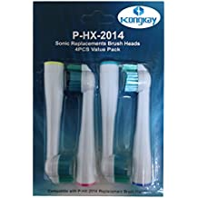Kongkay® Lote de 4 cabezales de recambio para cepillo de dientes, genérico compatible con