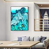 Wieoc Surfen Leinwand Kunst Wandgemälde Druck Auf Leinwand Bilder Für Wohnzimmer Abstrakte Meer Wandkunst Leinwand Wohnkultur 60X80 cm