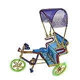 EtsiBitsi Aluminium Wire Cycle Rickshaw Shed Showpiece