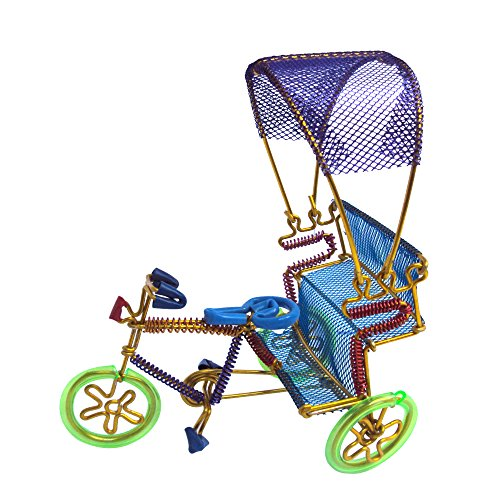 EtsiBitsi Aluminium Wire Cycle Rickshaw Shed Showpiece