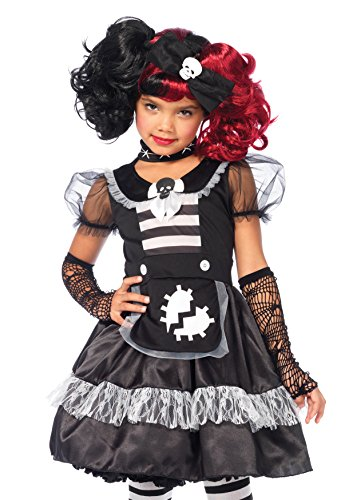 Leg Avenue C48142 - Rebel Rag Doll Kostüm, Größe Large (EUR 146-158) (Doll Rag Kostüm-kind)