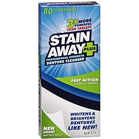 Stain Away Stain Away Plus Denture Cleanser, 8.1 oz (Pack of 2) by Stain Away
