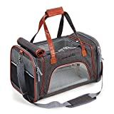Louvra Dog Cat Carrier Top Opening Soft Sided Small Pet Dog Carriers Airline Approved Shoulder Travel Bags for Car Luggage, Dark Grey