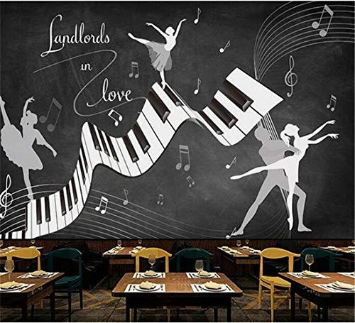 Fototapete Retro Vintage Ballett Kostüm 3D Wandbild Wohnzimmer Sofa Tv Hintergrund Wand Wasserdichte Fresco 3D Tapeten, 350 Cm X 245 ()
