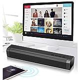 Qsportpeak Kleine Soundbar, Dual-Lautsprecher (5 W), Bluetooth-Lautsprecher, Subwoofer-Lautsprecher Soundbar, TV-Lautsprecher,für Heimkino, PC, Tablets, Computer, Smartphones