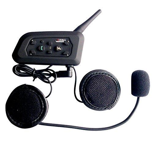 Bluetooth Motorradhelm Communicator Headset,Vnetphone V6 1000m Reichweite 6-Fahrer Interphone, Bedienungsanleitung in Deutsch Bluetooth Communicator