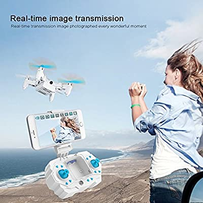 Kingtoys Mini Drone Rc Quadcopter With Cameras FPV WiFi Iphone Control and Remote Control Support One Key to Return Collapsible Drone