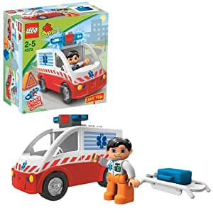 lego duplo jeu de construction premier ge ambulance jeux et jouets. Black Bedroom Furniture Sets. Home Design Ideas
