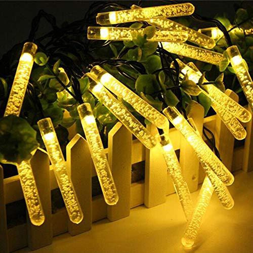 OOFAY LED Lichterkette Bunt 350cm Meteorschauer Röhren Deko Leuchten LED für Außen Garten Bäume Weihnachten Dekoration Solarenergie,WarmWhite (Dekorationen Weihnachten Baum)