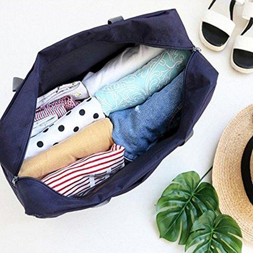 iShine Astuccio Portamatite multistrato Sacchetto pieghevole borsa da viaggio donna con 4 colori Blu scuro