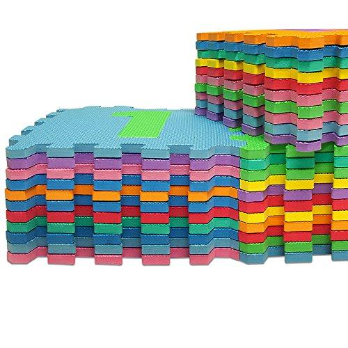 tappeto puzzle 86 pezzi con numeri e lettere colorati in morbida gomma eva resistente isolante. Black Bedroom Furniture Sets. Home Design Ideas