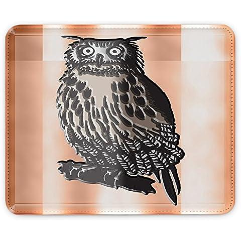 Colección 27, Custom adhesivo para MacBook piel de vinilo mangas de diferentes tamaños, Owls 10011, Leather Mouse Mat