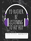 I'd Rather Be Listening To Metal Headphones Composition Book College Ruled 100 p: Heavy Metal Music Student Notebook Journal for Kids (7.44 x 9.69)