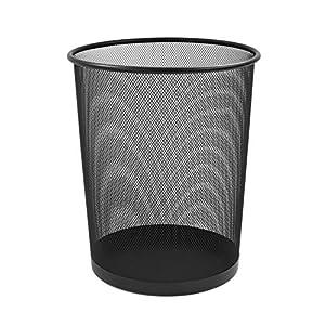 Unbekannt Osco WB35-BLK Papierkorb aus Drahtgeflecht, 35 cm hoch, schwarz
