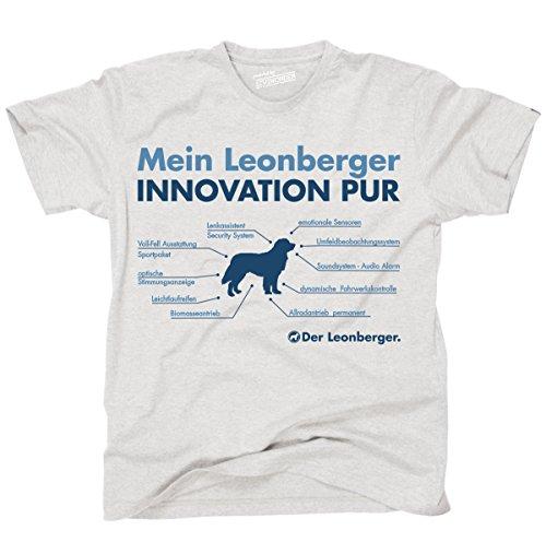 Siviwonder Unisex T-Shirt INNOVATION LEONBERGER TEILE LISTE Hunde lustig fun Ash