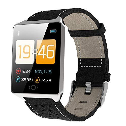 XULIWEI CK19 Ms. smart Watch wasserdichtes Armband herzfrequenzmessung schrittzähler, Social Sharing multifunktionsuhr,Black