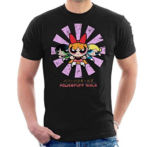 Powerpuff Girls Retro Japanese Men's T-Shirt