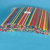 500 Jumbo Trinkhalme Strohhalme Trinkröhrchen Trinkstäbchen Shakehalme Kunststoff farbig bunt gemischt 25cm 8mm Durchmesser extra dick für Softdrinks, Milchshakes, usw. günstige Großverbraucher Packung