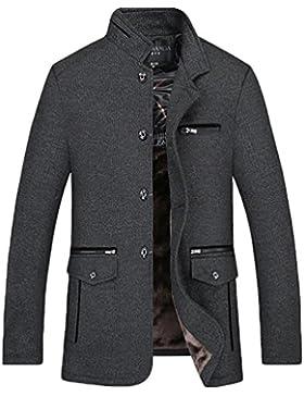 YiJee Hombres Collar del Soporte Casual Chaqueta Invierno Trench Coat