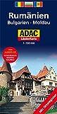 Rumänien, Bulgarien, Moldau: 1:750000 (ADAC Länderkarten) -