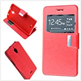 MISEMIYA - Funda Alcatel A2 XL/Alcatel Pixi 4 (6.0') 3G - Funda Solo, Libro View Sporte,Rojo