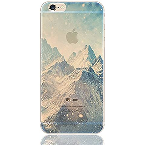 iPhone 6s plus Case, iPhone 6 plus Case, Ranrou case,Ranrou Soft TPU Silicone Clear Cases for iPhone 6 plus 6s plus -Mountain