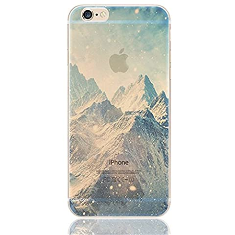 iPhone SE Case, iPhone 5s Case, Ranrou case,Ranrou Soft TPU Silicone Clear Cases for iPhone 5s SE -Mountain