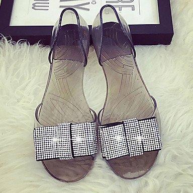 Damen-Flache Schuhe-Lässig-PU-Flacher Absatz-Komfort-Schwarz Champagner Black