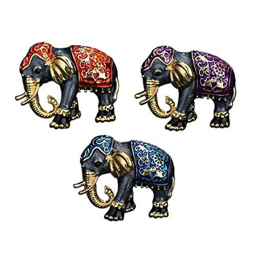 Seraphis Elefanten Broschen Set 3x Tier Brosche Hinduismus Geschenk Gold Schmuck Pins