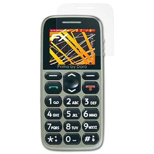 atFolix Schutzfolie kompatibel mit Doro Primo 215 Bildschirmschutzfolie, HD-Entspiegelung FX Folie (3X)