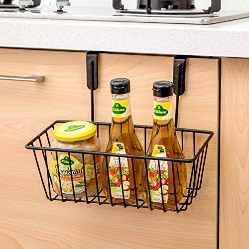 Zollyss Multifunctional Metal Storage Basket Kitchen Cabinet Drawer Organizer Door Hanger Storage Holder Shelf Kitchen Rack - Random Color