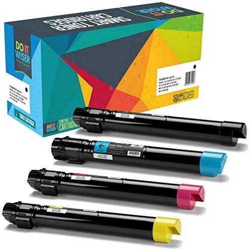 4 Do it Wiser Kompatibel Toner für Xerox Phaser 7500DN 7500 7500N 7500DN 7500YDN 7500DT 7500YD | 106R01439 106R01436 106R01437 106R01438 (Schwarz 19.800, Farben 17.800 Seiten) (Toner Phaser 7500)
