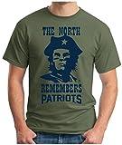 OM3® - The North Remembers Patriots - T-Shirt | Herren | American Football Shirt | Super Bowl 53 LIII | NFL | M, Oliv