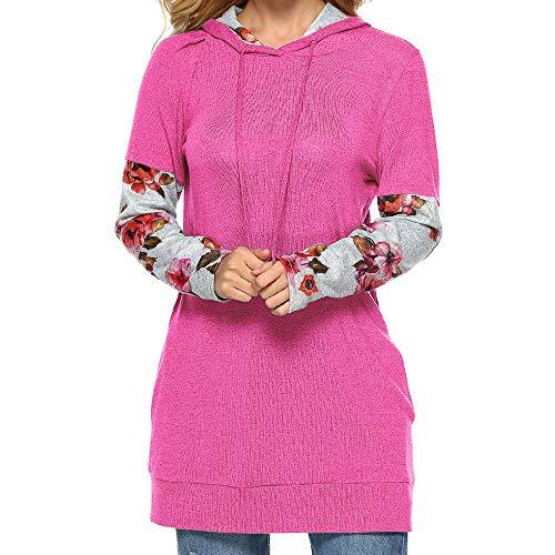 Hanomes Damen pullover, Frauen Damen Hooded Printing Langarm Langarmbluse HOT/XL