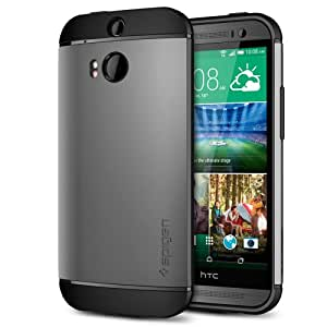 Spigen Slim Armor Cover Case for HTC One (M8) - Gunmetal